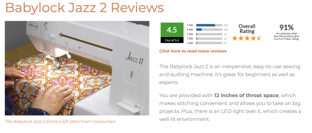 how good are babylock sewing machines