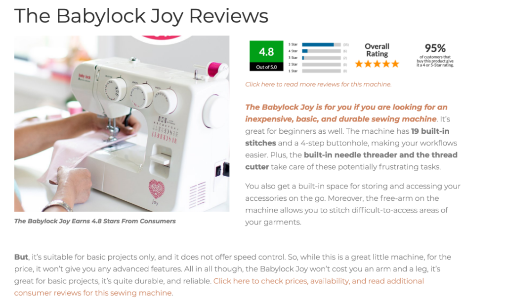 baby lock review