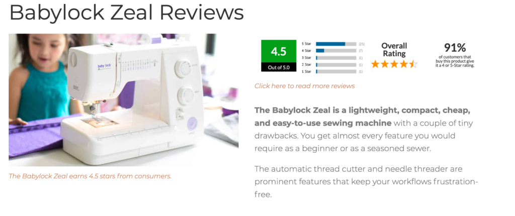 are baby lock sewing machines good