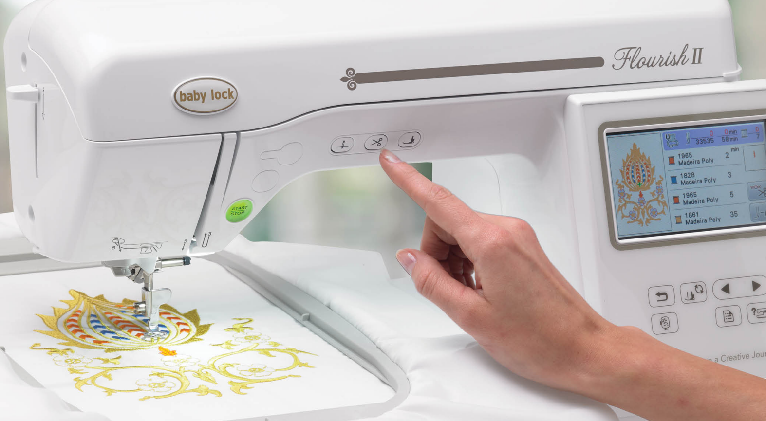 embroidery machines with 5x7 hoop