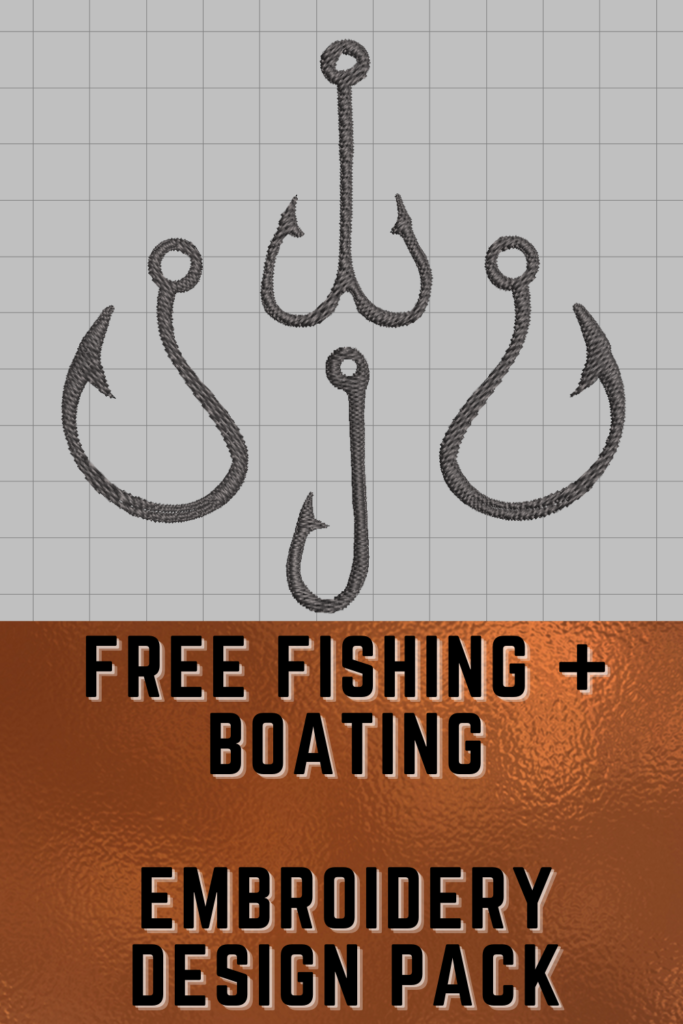 free boating and fishing machine embroidery designs pinterest pin