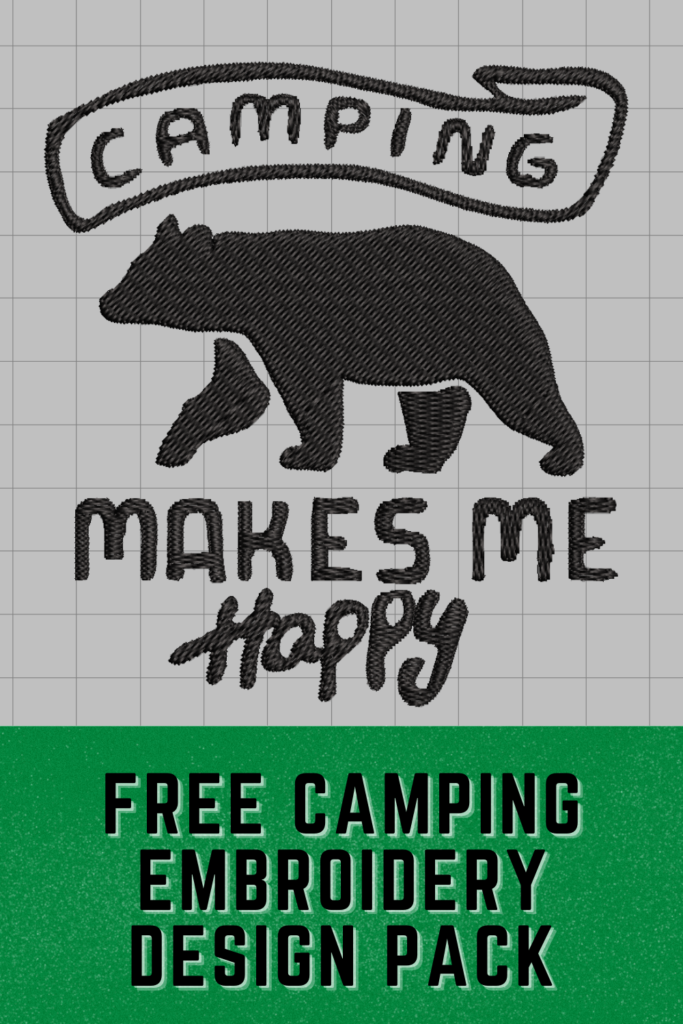 free camping embroidery design pack pinterest pin
