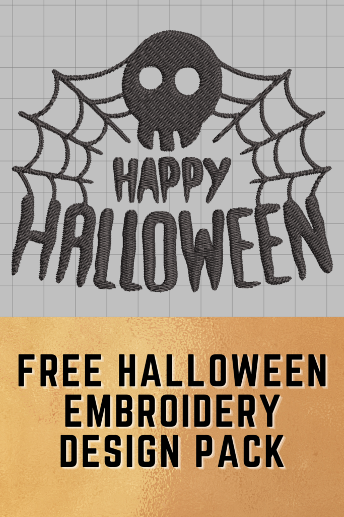 free happy halloween embroidery designs pack pinterest pin