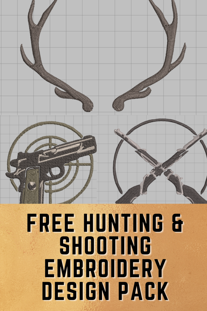 free hunting and shooting embroidery designs pack pinterest pin