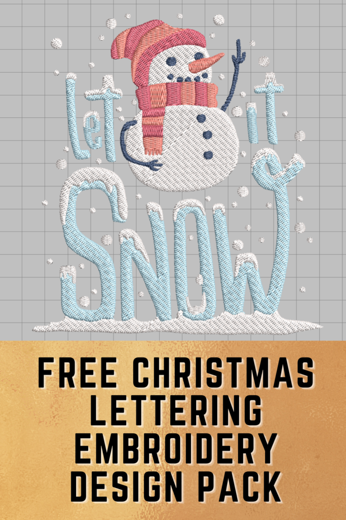 free christmas lettering machine embroidery designs pack pinterest pin
