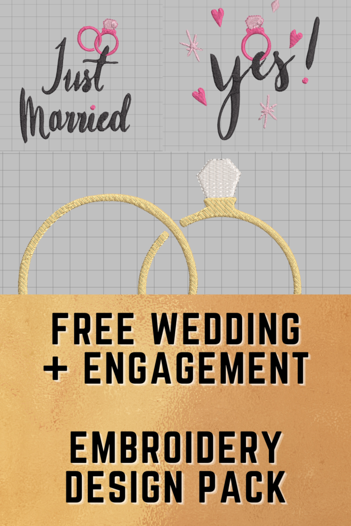 free wedding and engagement machine embroidery designs pinterest pin
