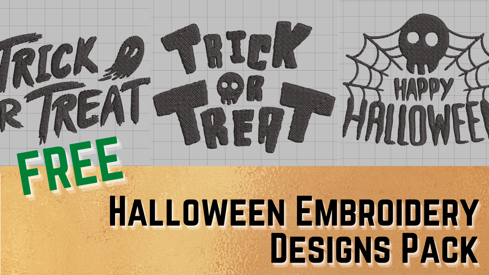 free halloween embroidery designs pack