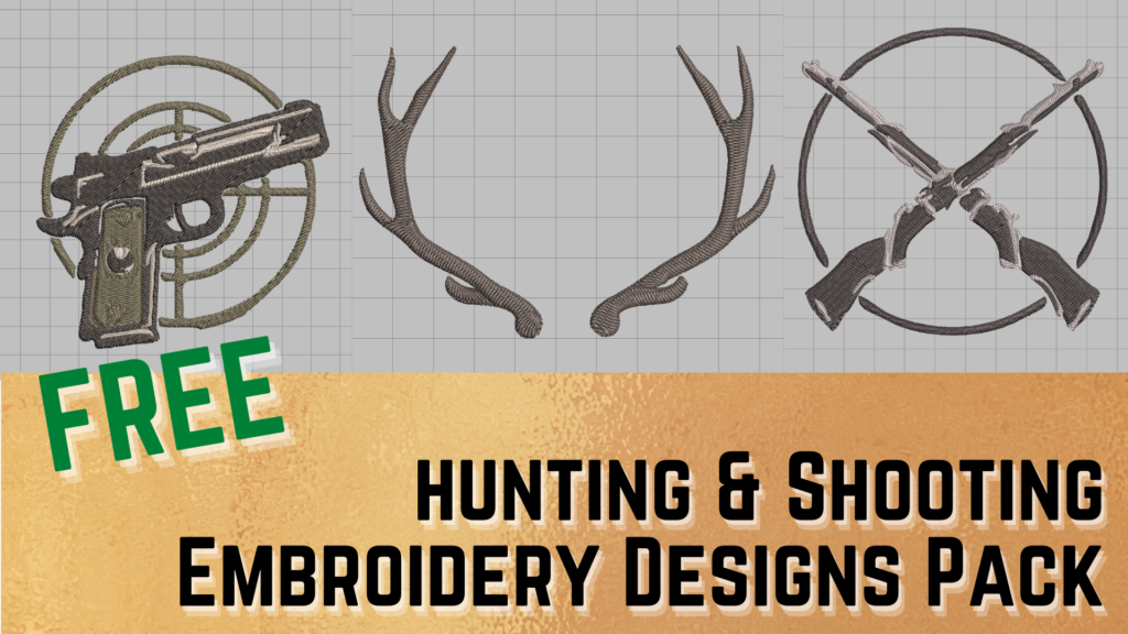 free deer hunting and shooting machine embroidery design pack download