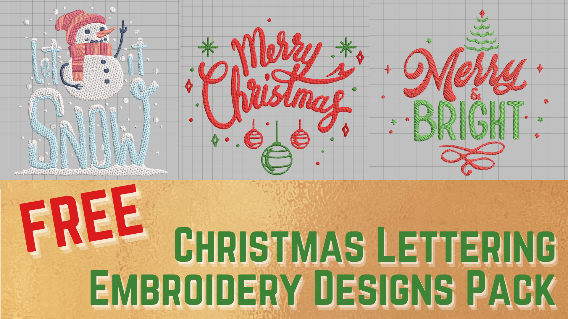 free christmas lettering machine embroidery designs