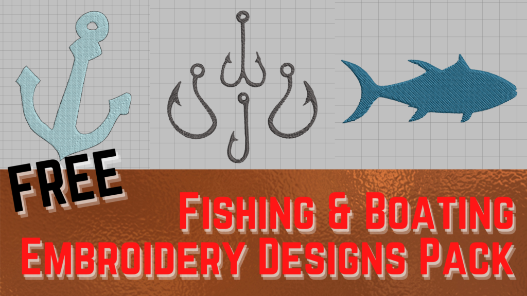 free fishing and boat machine embroidery designs