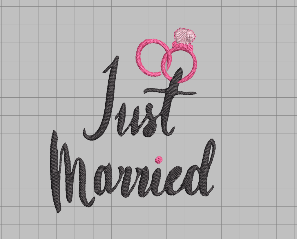 free just married wedding engagement machine embroidery design