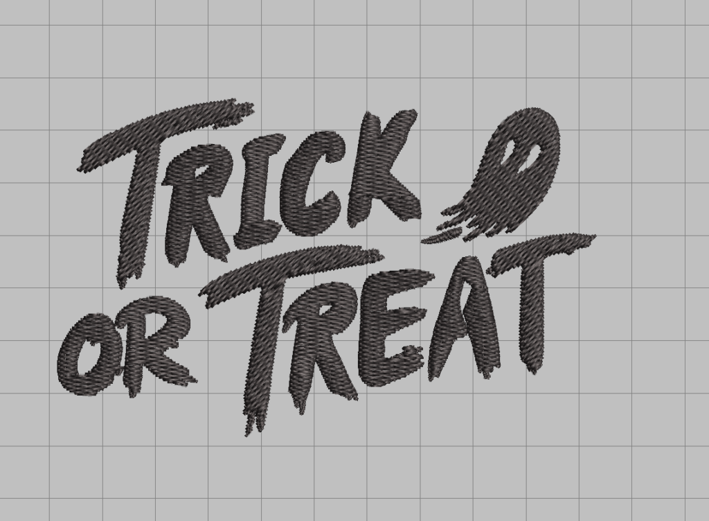 free trick or treat ghost machine embroidery design halloween