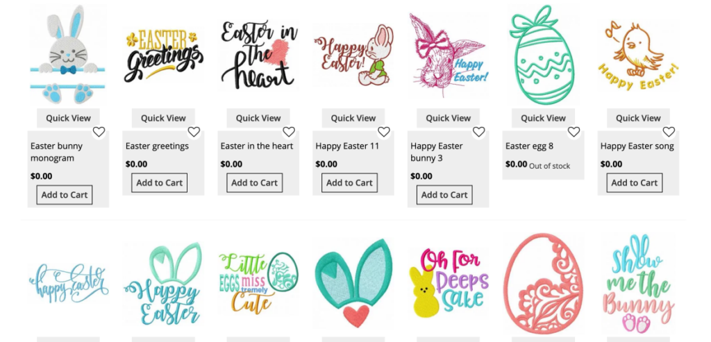 free easter embroidery designs brother