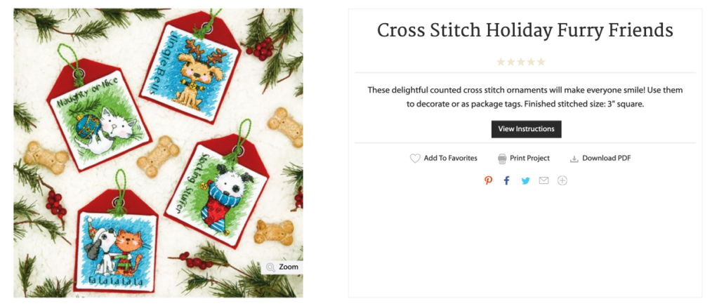 cats and dogs christmas cross stitch gift tag pattern free