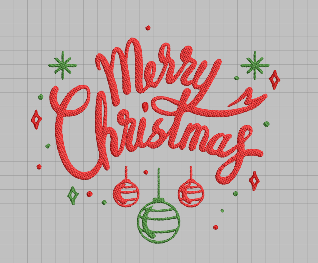 free merry christmas machine embroidery design