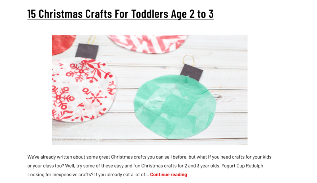 easy christmas toddler crafts