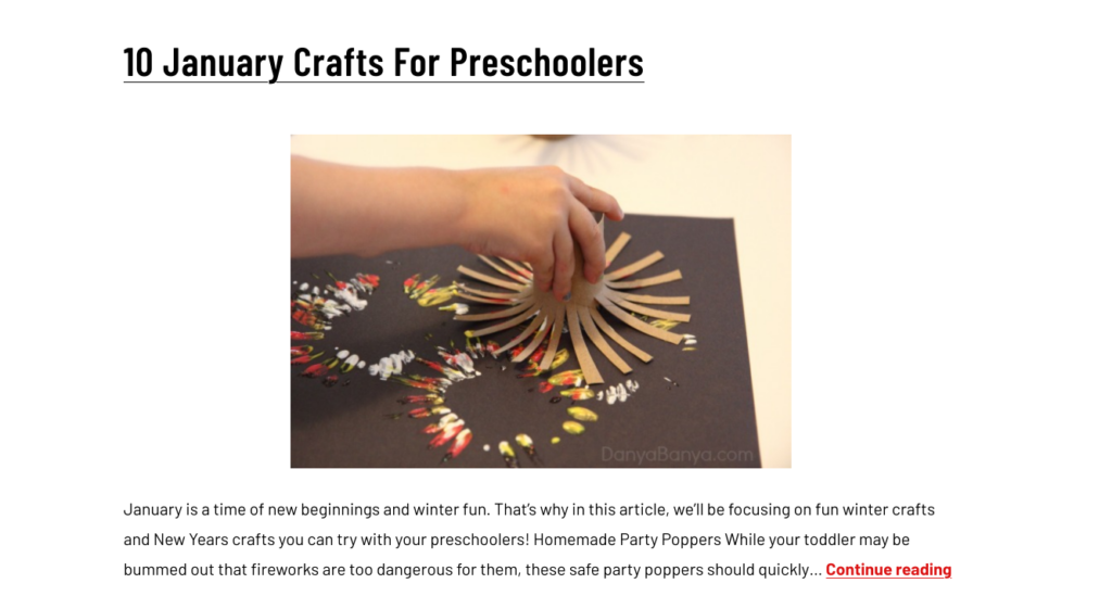 winter crafts for kids to make
